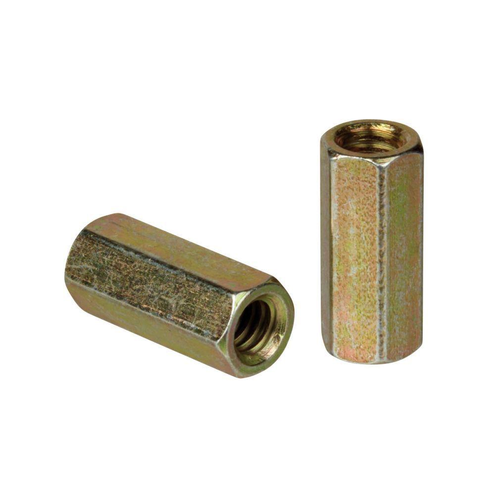 Superstrut 3/8 in. Threaded Rod Coupling - Gold Galvanized (5 Packs of 5/Case - 25 Total Pieces)