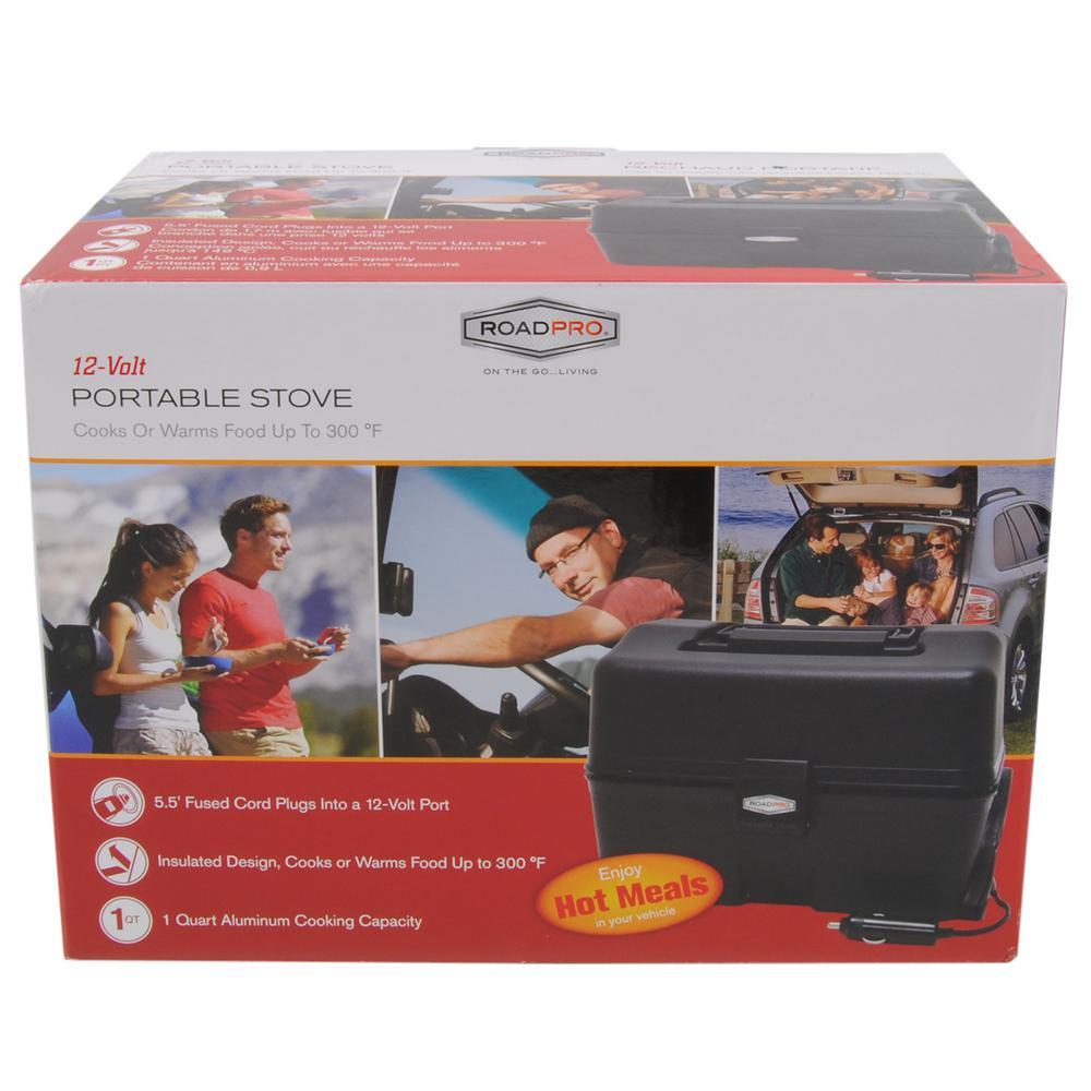 roadpro 12-volt portable stove black