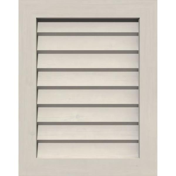 Ekena Millwork 17 In X 39 In Rectangular Primed Smooth Pine Wood Built In Screen Gable Louver Vent Gvwve12x3402sdppi The Home Depot