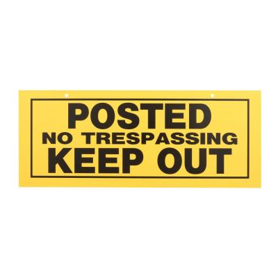 6 in. x 15 in. Posted No Trespassing Keep Out Sign