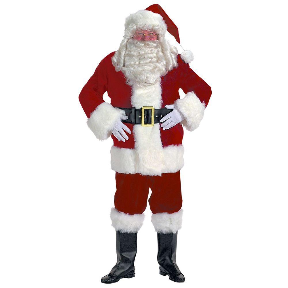 XXL Professional Velvet Santa Claus Suit, Adult Unisex, M...
