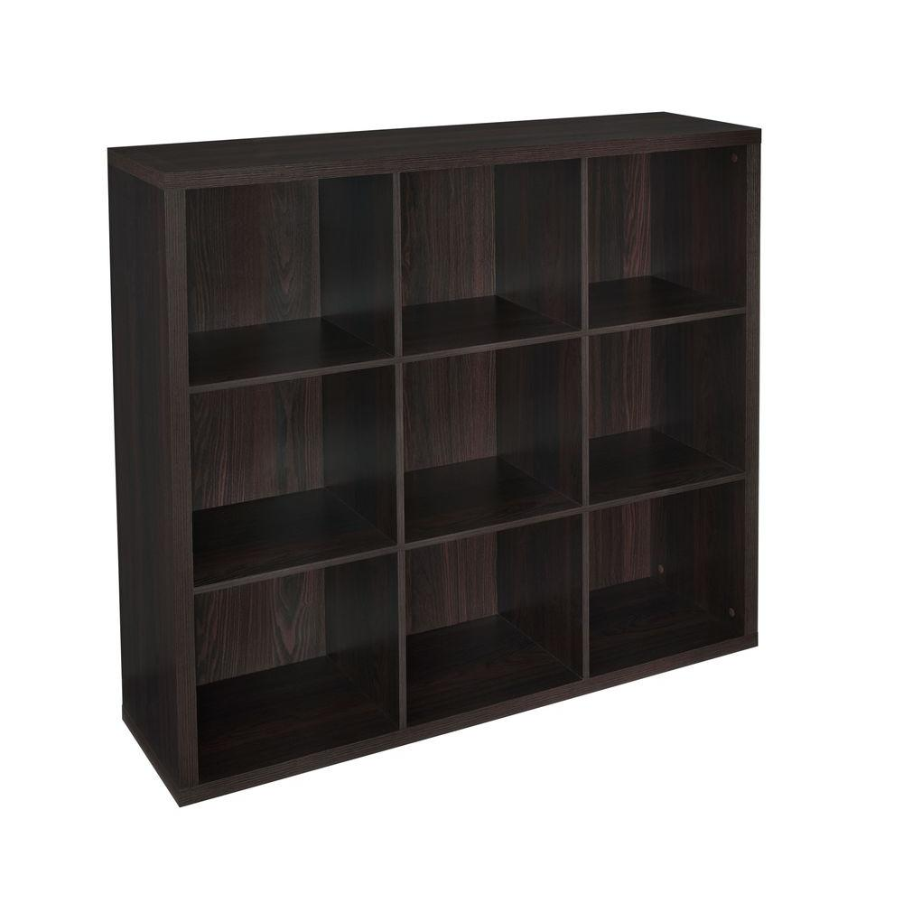 ClosetMaid 44 In. W X 44 In. H Decorative Black Walnut 9 Cube
