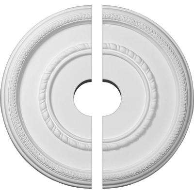 17-3/8 in. O.D. x 3-1/2 in. I.D. x 1-1/8 in. P Federal Ceiling Medallion (2-Piece)