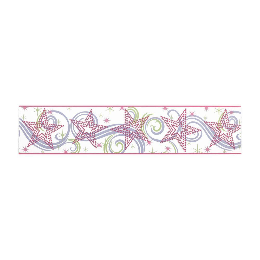 Disney disney kids star glitter wallpaper border dk5807b for Wallpaper borders