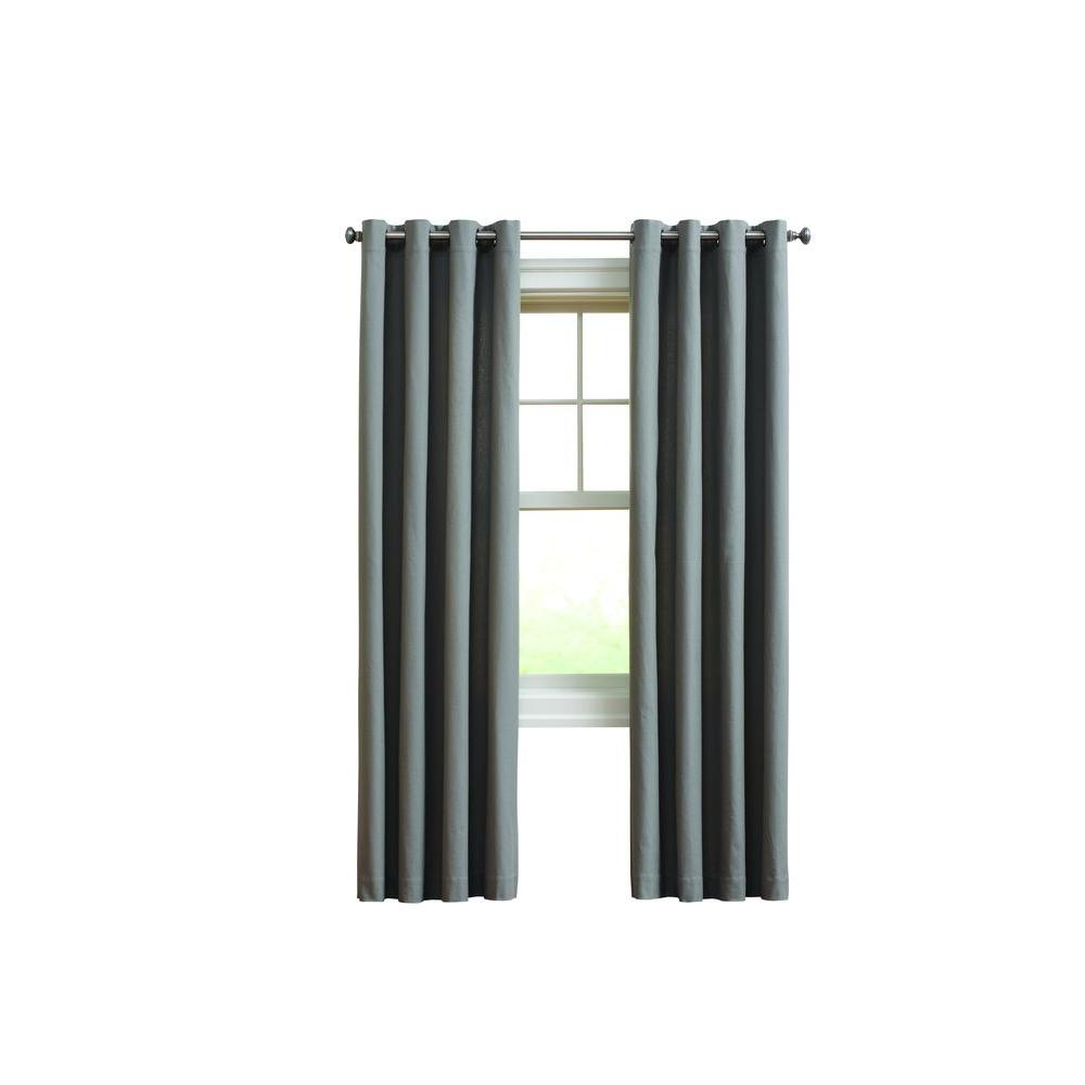 Home Decorators Collection Semi Opaque Gray 290 Gsm Curtain 50 In W X 63 In L Cot5063gry