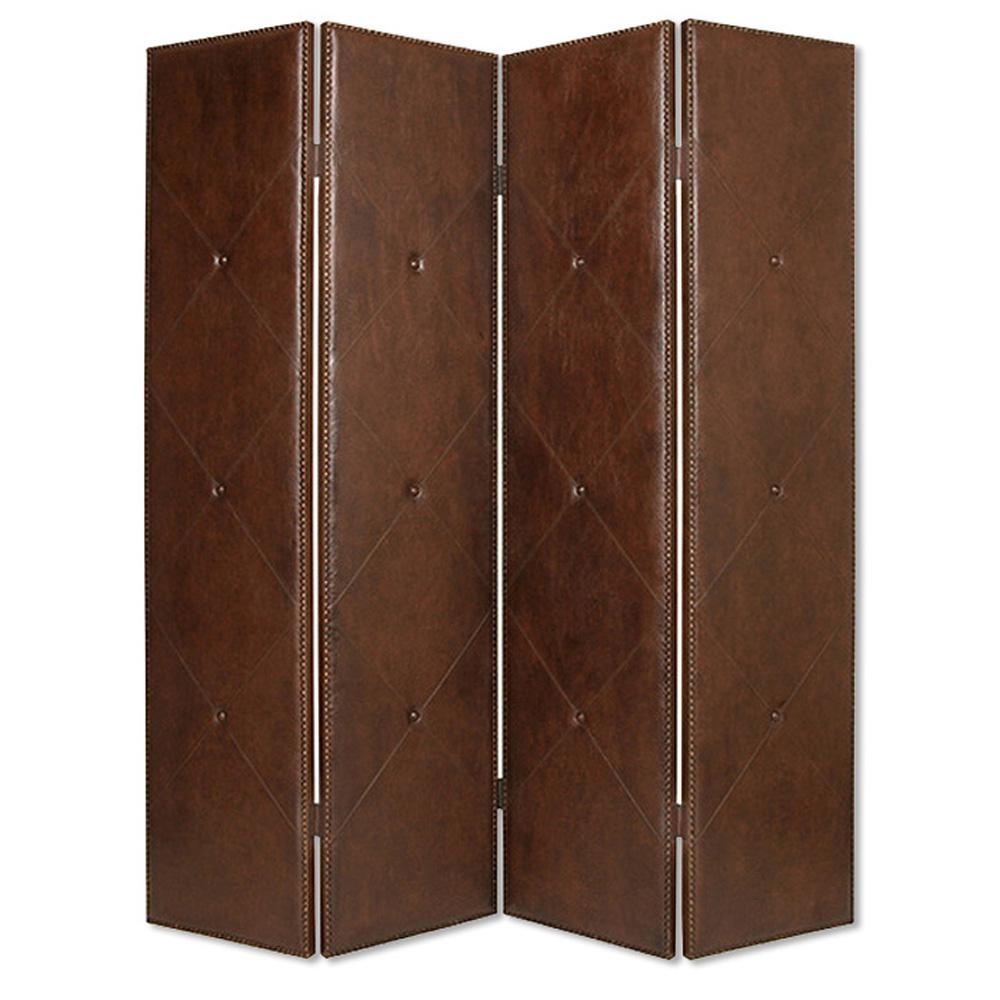 Copley 7 ft. Brown 4-Panel Room Divider