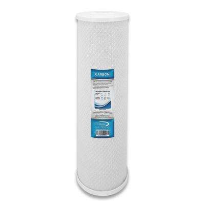 Activated Carbon Block Replacement Filter ACB Water Filter Whole House Filtration 5 Micron 4.5 x 20