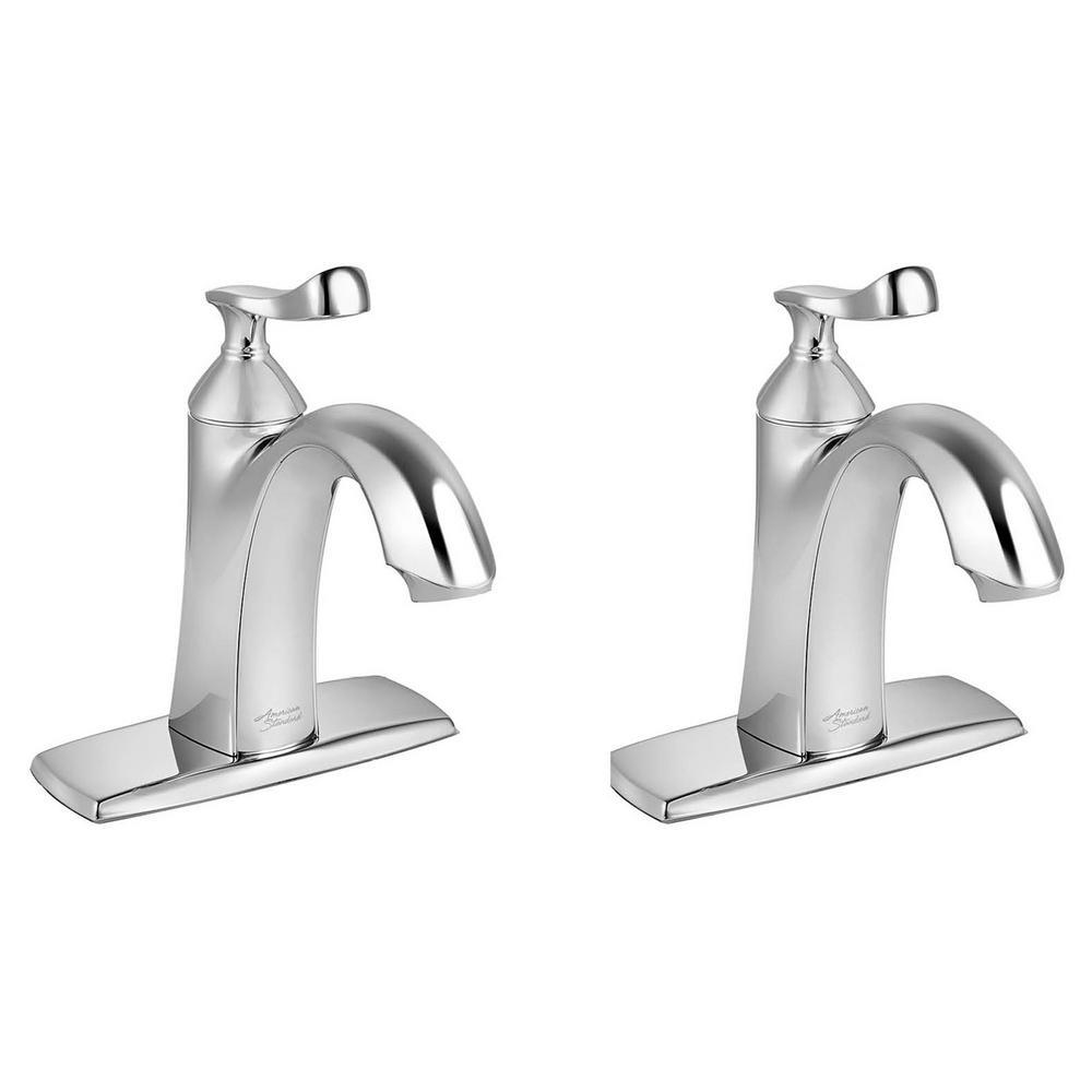 Chatfield Single Hole Single-Handle Bathroom Faucet (Set of 2) in Polished Chrome