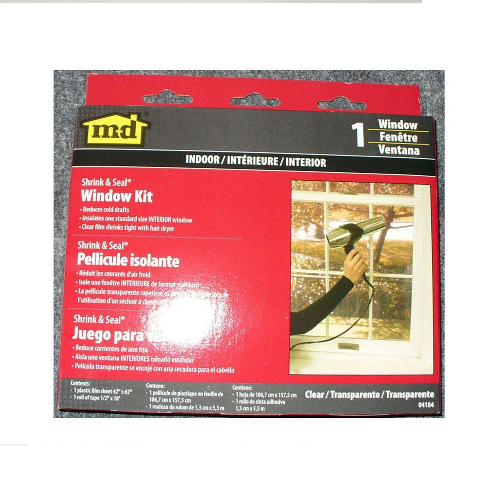 M-D Building Products 42 in. x 62 in. Shrink and Seal Weatherstrip Window Kit
