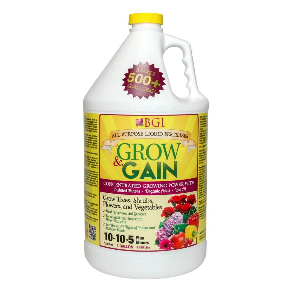 Bgi Grow And Gain 128 Oz All Purpose Liquid Plant Food Fgrow1g