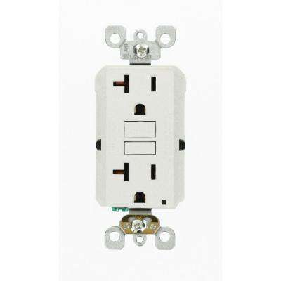 20 Amp 125-Volt Duplex Self-Test Slim GFCI Outlet, White (6-Pack)