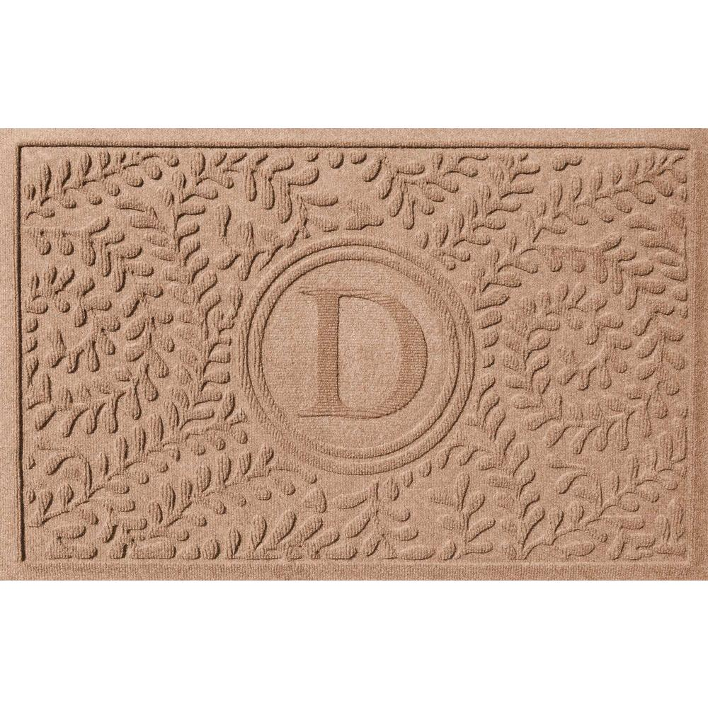 Boxwood Medium Brown 24 in. x 36 in. Monogram D Door