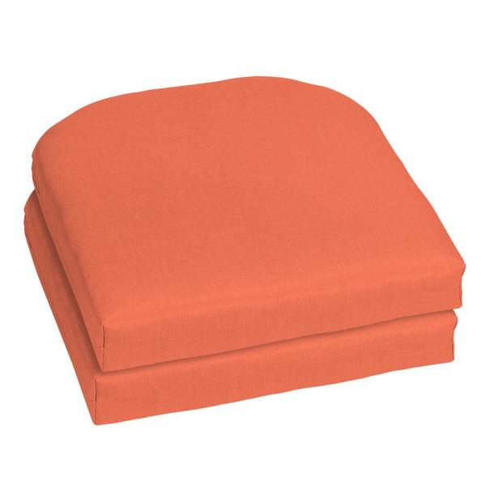 18 x 18 Sunbrella Canvas Melon Outdoor Chair Cushion (2-Pack)