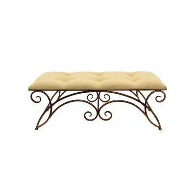 19.5 in. Bronze Metal Bench