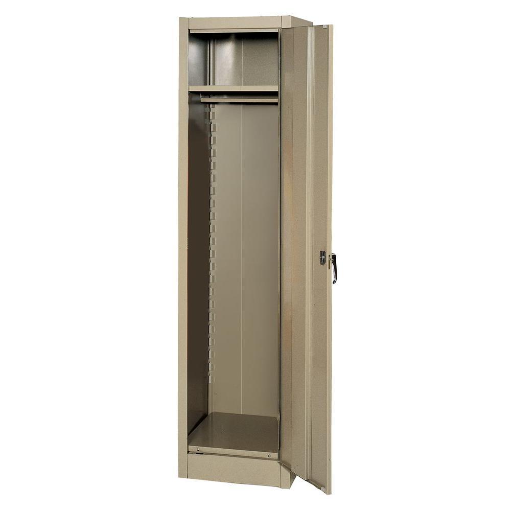 Edsal 66 in. H x 18 in. W x 18 in. D Steel Freestanding Wardrobe Cabinet in Tan