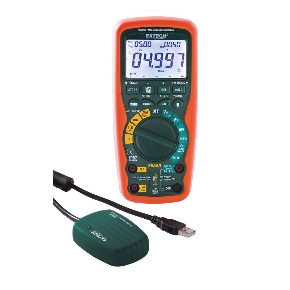 12 Function Wireless True RMS Industrial Multimeter/Data Logger