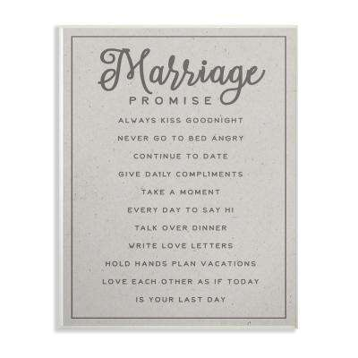 "10 in. x 15 in. ""Marriage Promise"" by Daphne Polselli Printed Wood Wall Art"