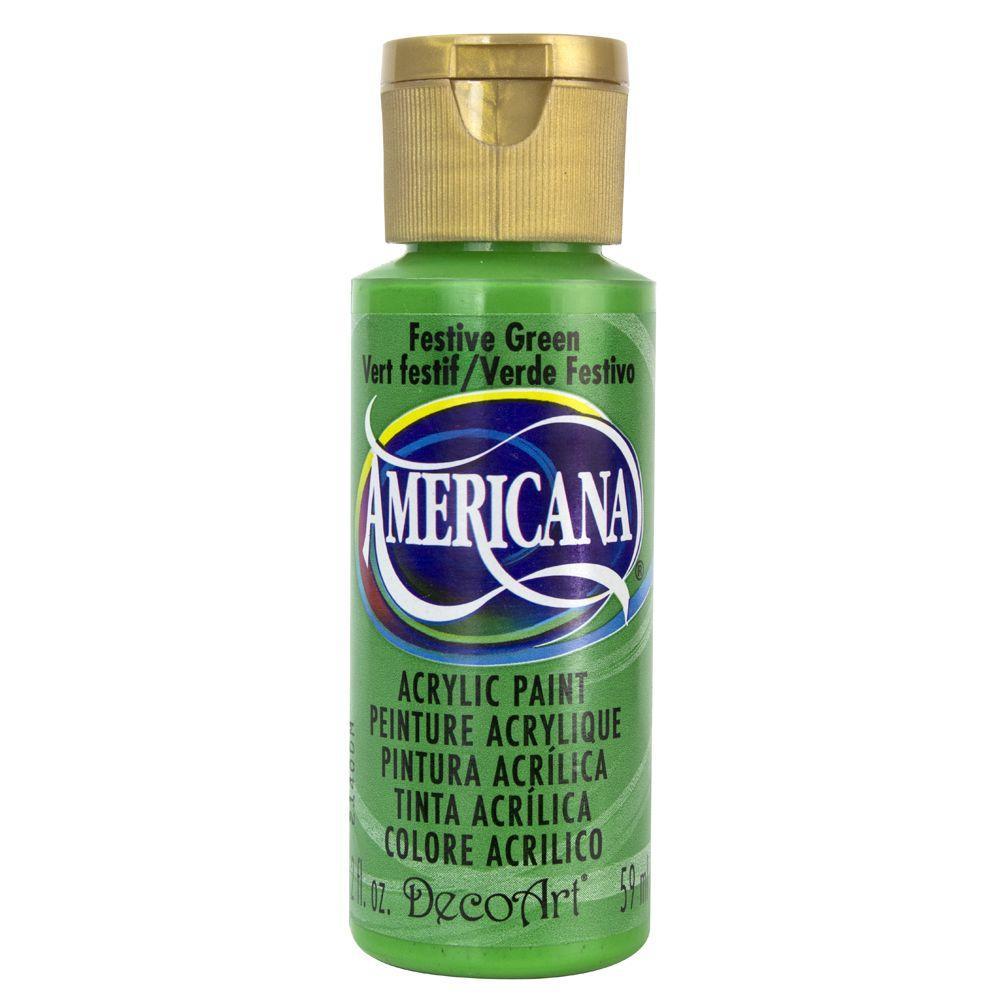 Americana 2 oz. Festive Green Acrylic Paint