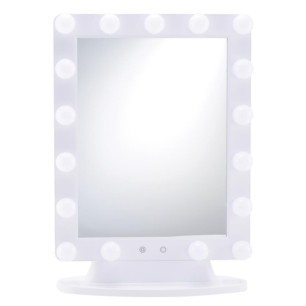Hollywood Mirror, Round Bulbs