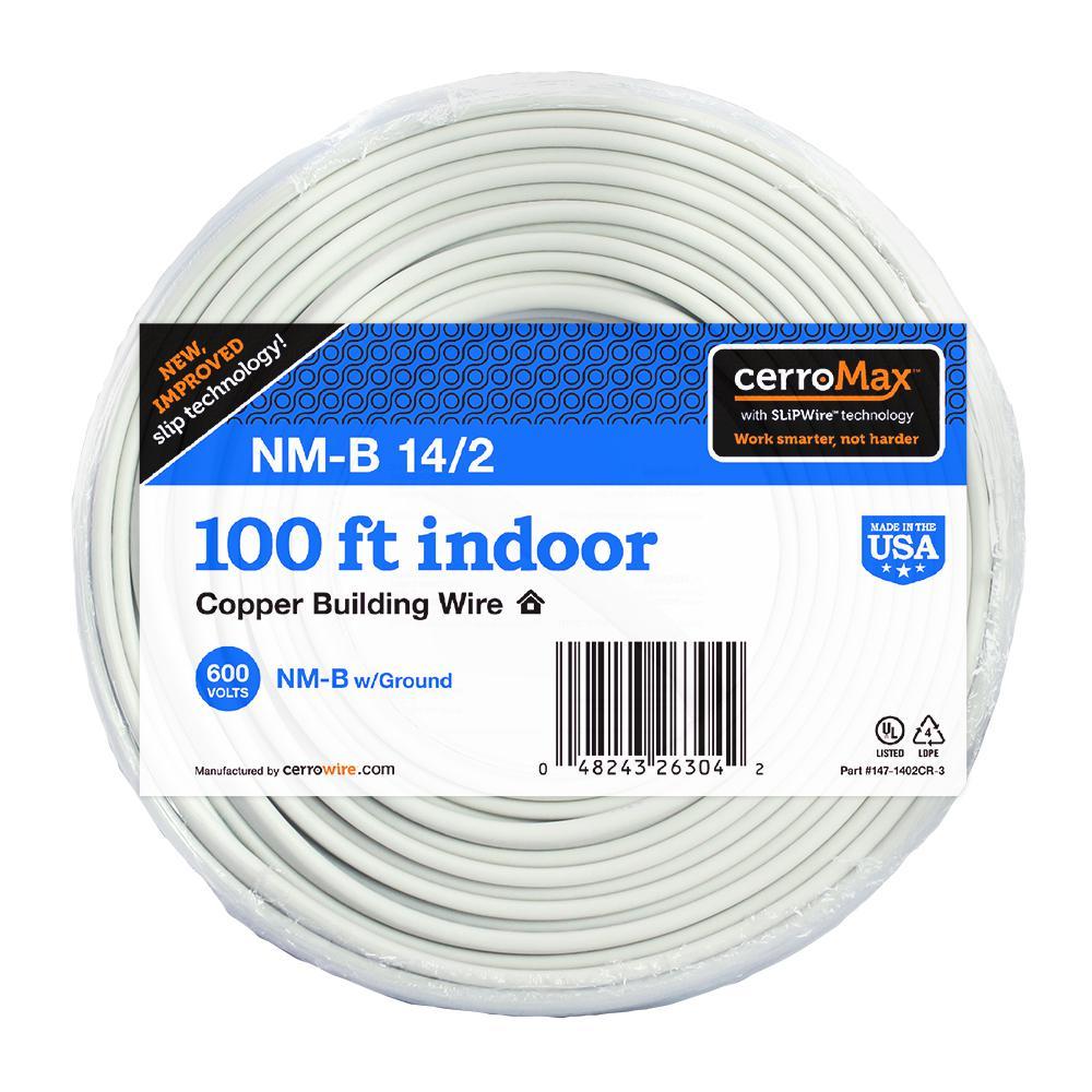 100 ft. 14/2 White NM-B Wire