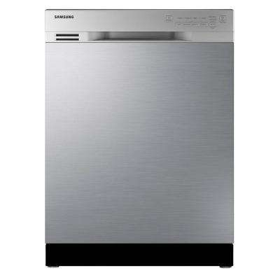 24 in. Front Control Dishwasher in Stainless Steel with Stainless Steel Tub
