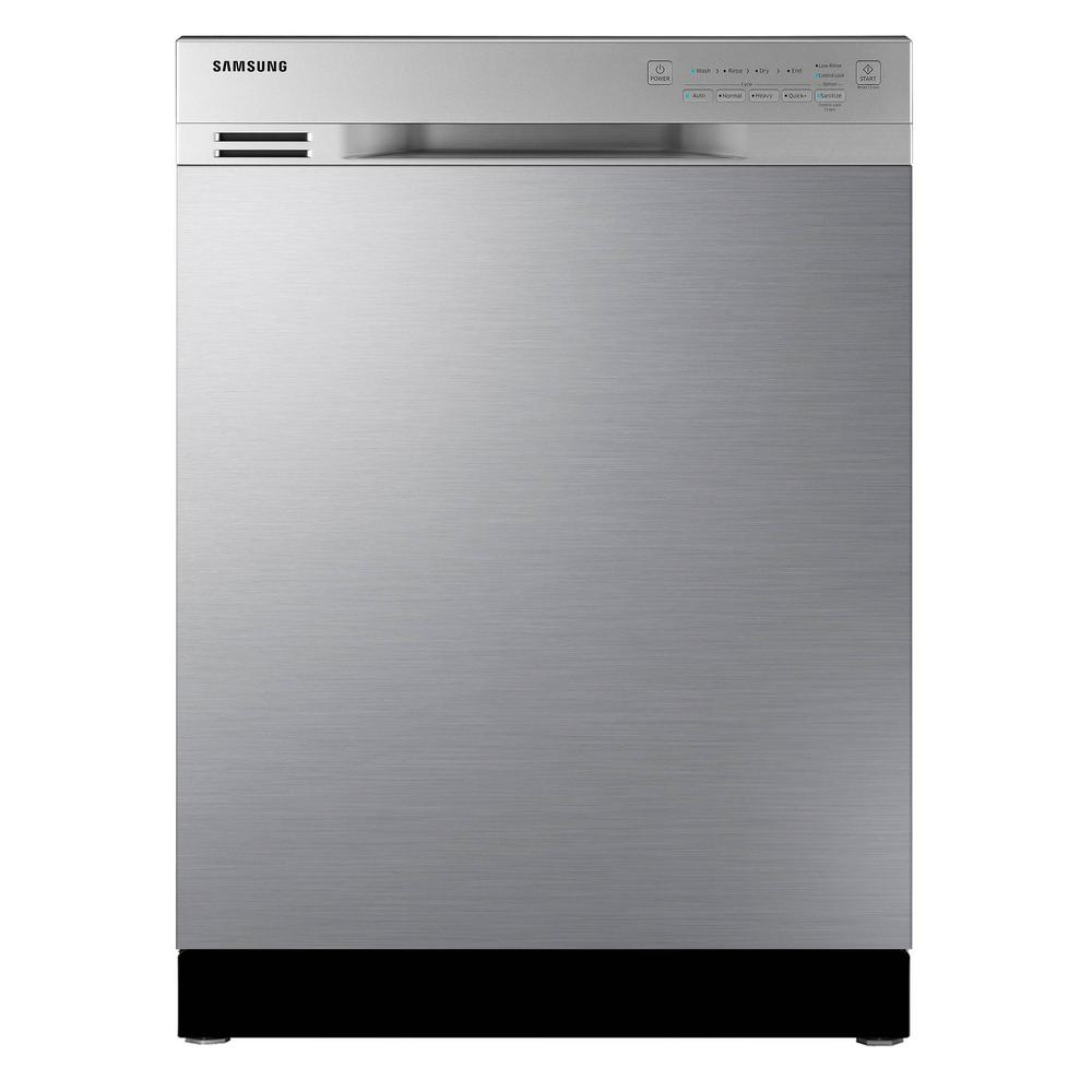Samsung 24 in front control dishwasher in stainless steel - Portable dishwasher stainless steel exterior ...