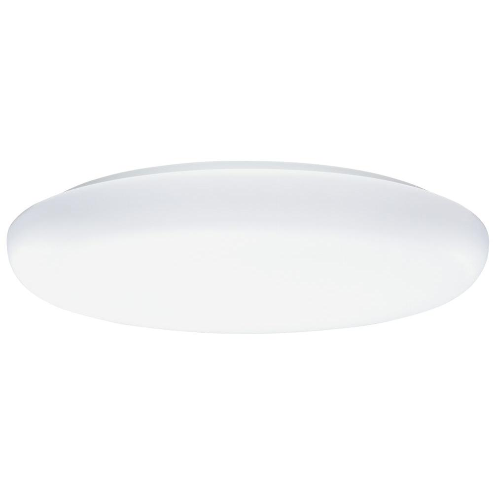 2-Light White Low-Profile Flushmount