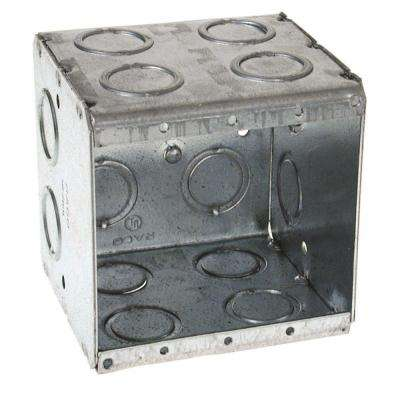 2-Gang Masonry Box, 3-1/2 in. Deep with 1/2 and 3/4 in Concentric KO's (25-Pack)