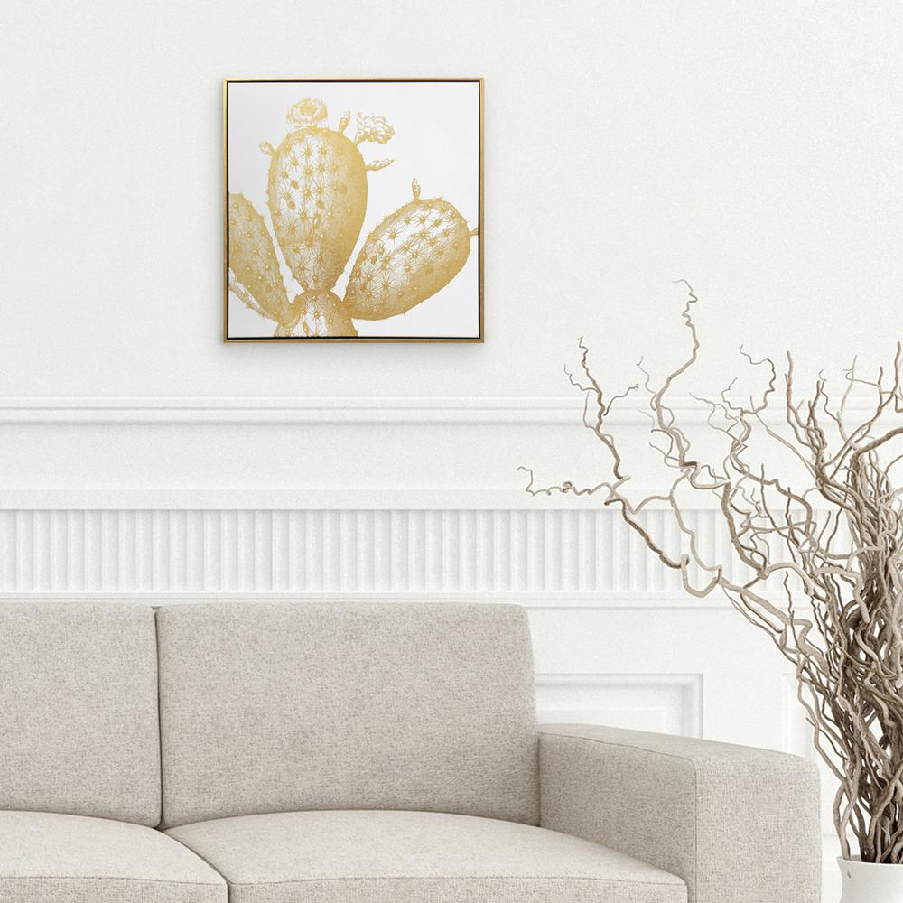 Wynwood Studio 18 H x 18 W \'Gold Cactus\' by Wynwood Studio Printed ...