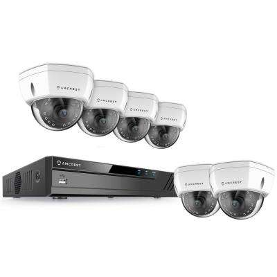 16-Channel 4K NVR 4MP 1440p Surveillance System with 8-Wired POE Dome Cameras with 98 ft. Night Vision