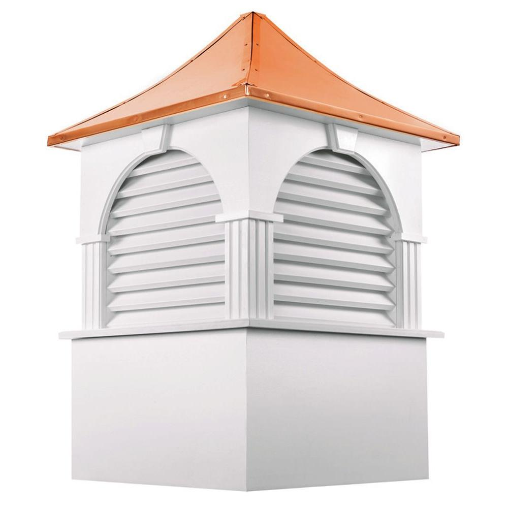 Good Directions Farmington 84 in. x 123 in. Vinyl Cupola with Copper Roof