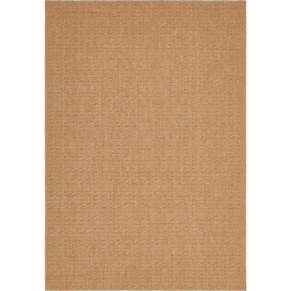 """Outdoor Modern Light Brown 8' x 11'4"""" Rug"""