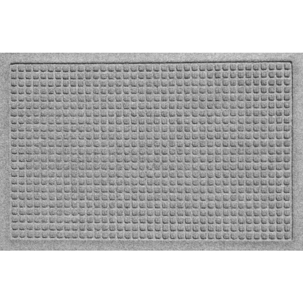 Bungalow Flooring Aqua Shield Squares Medium Grey 17.5 inch x 26.5 inch Door Mat by Bungalow Flooring