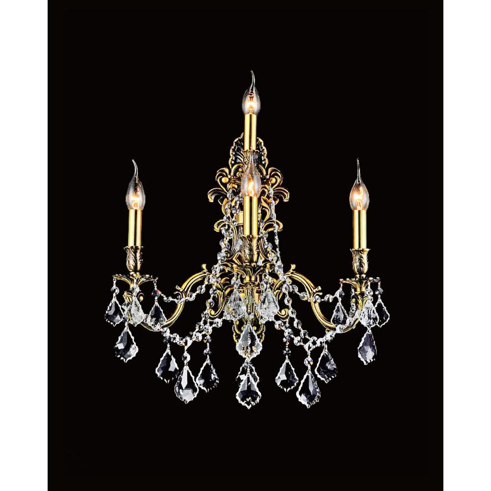 Brass 4-Light French Gold Sconce