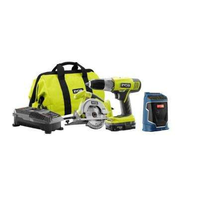 18-Volt ONE+ Lithium-Ion Cordless Combo Kit with Radio