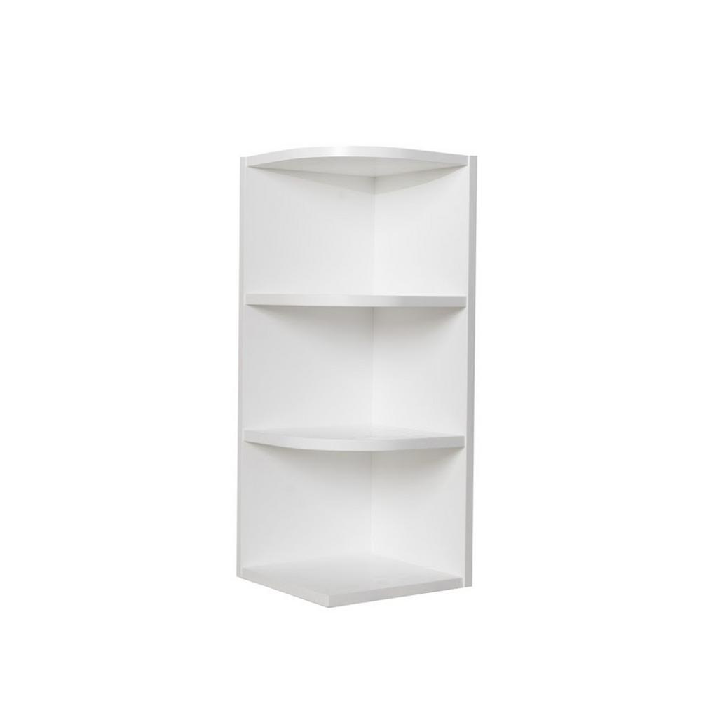 K B Furniture White Wood Kitchen Storage Cabinet