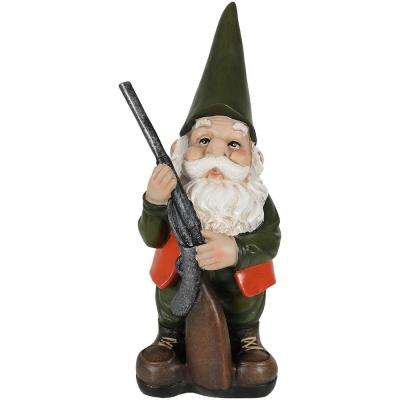 12 in. Hank The Hunting Gnome Garden Statue