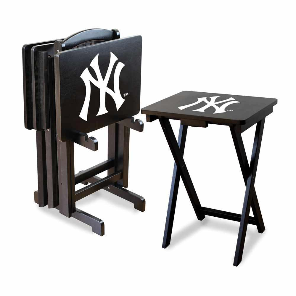 New York Yankees 4 Tv Tray And Stand Set Imp 86 2001 The Home Depot