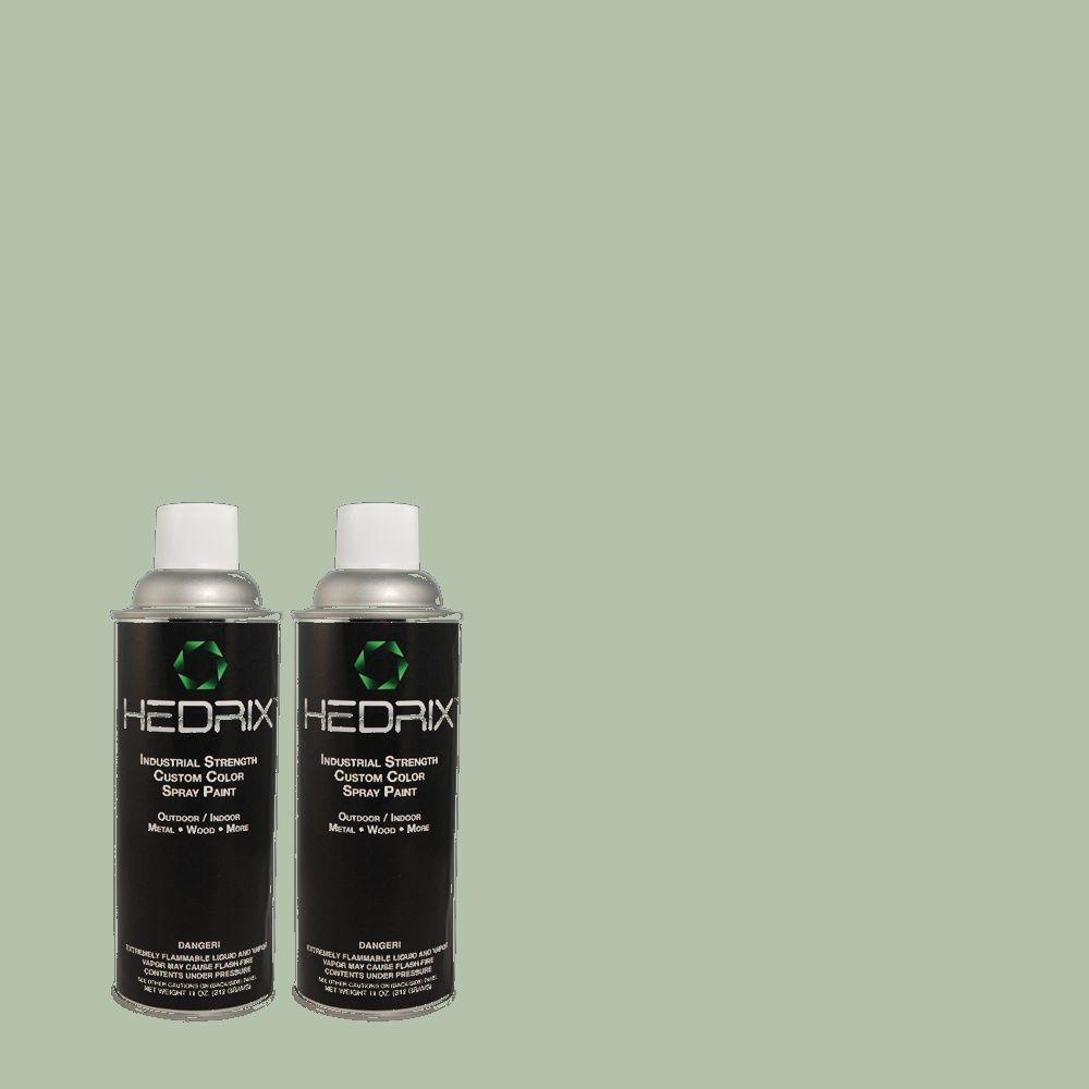 Hedrix 11 oz. Match of 8484 Seafoam Green Flat Custom Spray Paint (2-Pack)