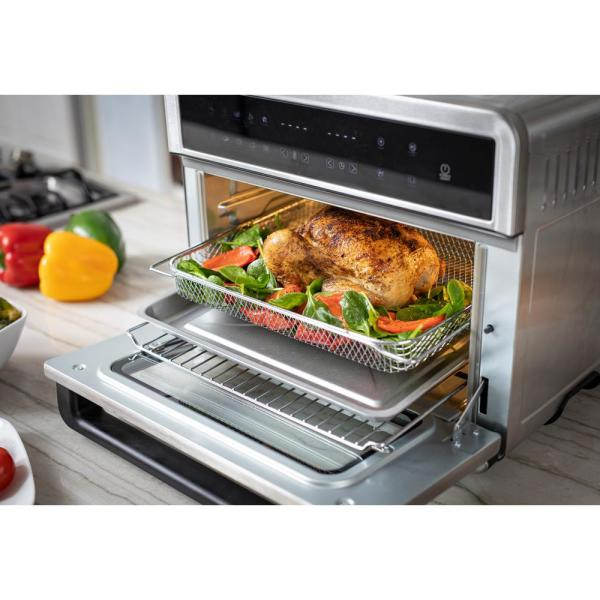 Modernhome 30qt Touchscreen Air Fryer Toaster Oven With 3 Cooking
