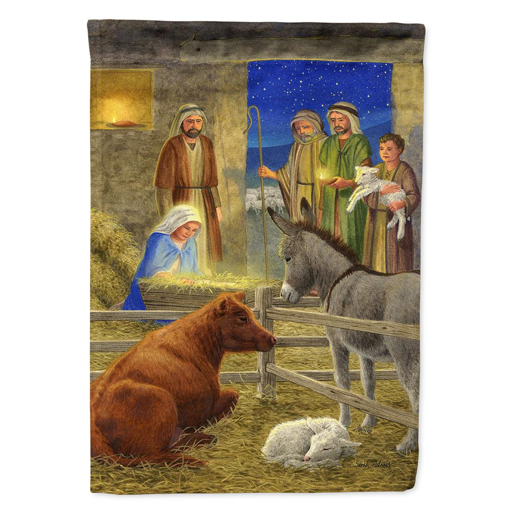 Caroline S Treasures 28 In X 40 In Polyester Nativity Scene Flag Canvas House Size 2 Sided Heavyweight Asa2142chf The Home Depot
