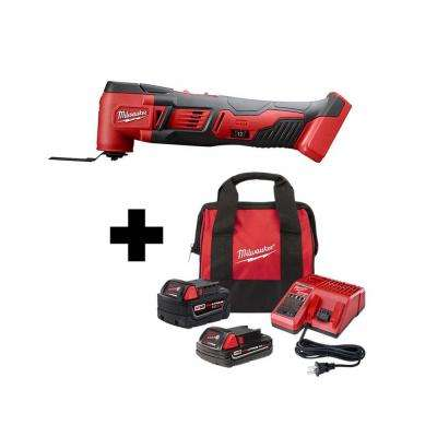 M18 18-Volt Lithium-Ion Cordless Oscillating Multi-Tool with One M18 5.0 Ah and One 2.0 Ah Battery, Bag and Charger