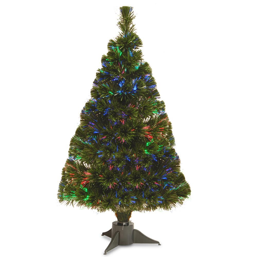 Battery Operated Fiber Optic Ice Artificial Christmas Tree
