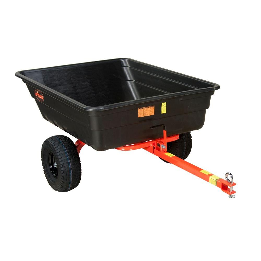 12 cu. ft. 750 lb. Poly Power-Assist Dump Cart