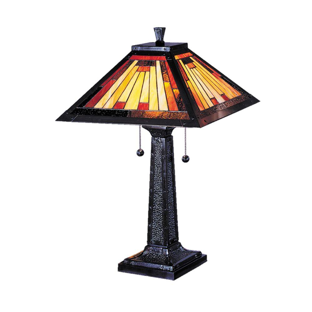 Dale Tiffany 24 in. Mission Camelot Mica Bronze Table Lamp