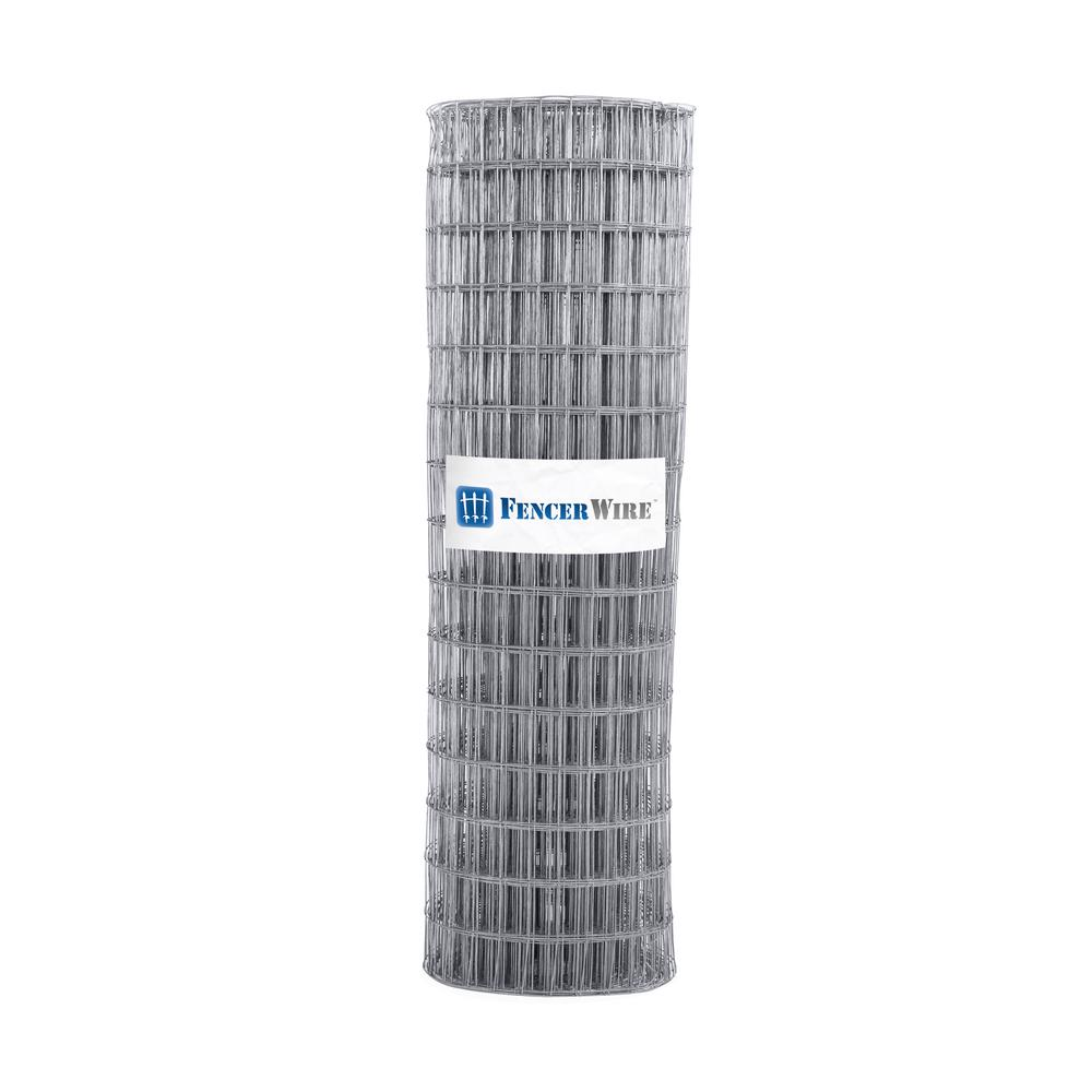 Fencer Wire 5 ft. x 100 ft. 12.5-Gauge Welded Wire Fence with Mesh 2 in. x 4 in.