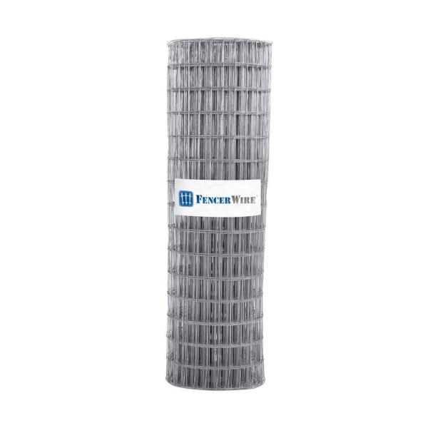 5 ft. x 100 ft. 12.5-Gauge Welded Wire Fence with Mesh 2 in. x 4 in.