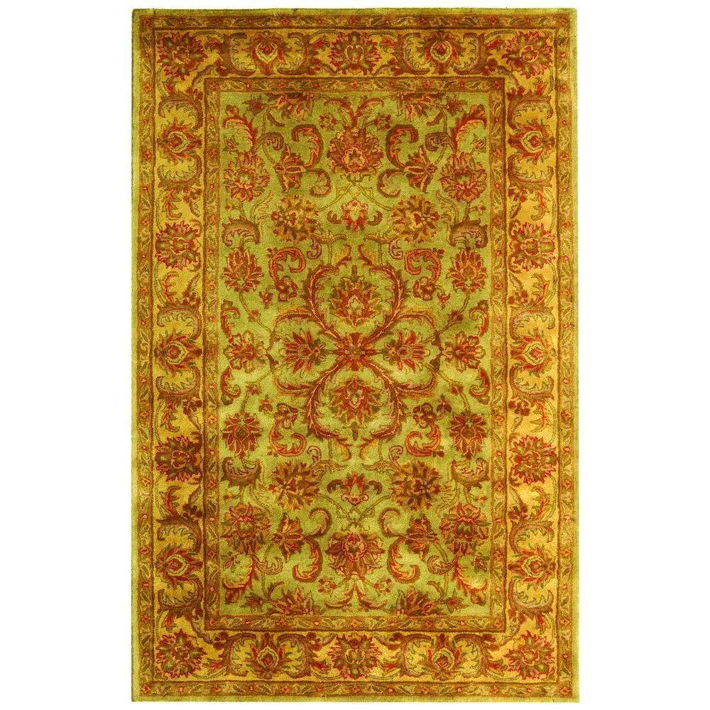 Safavieh Heritage Green/Gold 4 ft. x 6 ft. Area Rug