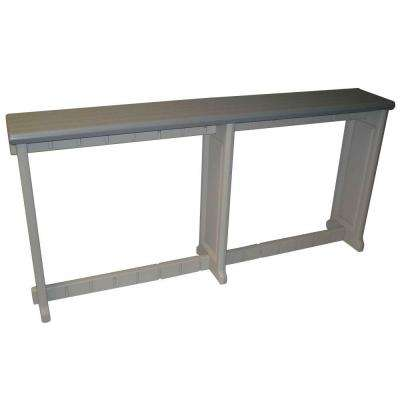 Gray 74 in. Resin Patio Bar