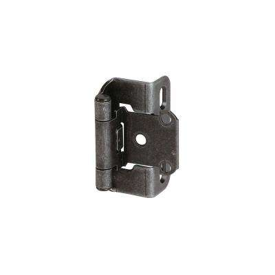 1-3/4 in. W x 2-1/4 in. H Wrought Iron Self-Closing Partial Wrap 1/2 in. Overlay Hinge